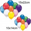 Luftballons 25er, 10x14 + 15x22cm Durchmesser