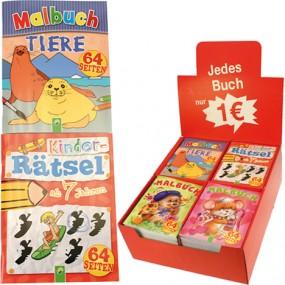 Mal & Rätselbuch Kinder 64 Seiten 4f. im Display