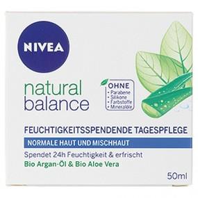 Nivea Visage Tagescreme 50ml Pure&Natural Feucht