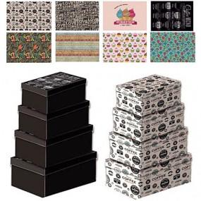 Geschenkbox 4 Größen u. 8 Motive sortiert 1er!