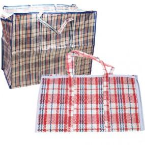 Tasche Einkaufstasche XXL Karo 60x48x30cm