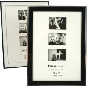 Fotorahmen Black & White Modern 13x18cm 2 F. sort