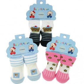 Baby Socken für bis 6 Monate, 12fach sortiert