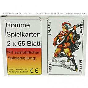 Spielkarten Romme französisches Bild 2x55 Blatt