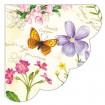 Servietten 12er 32cm Rund 3lg Schmetterlinge