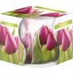 Bougie parfumée Motif fleur en verre 100gr cire b