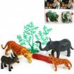 Zootiere aus Kusto 4er+Zubehör, 3fach sortiert