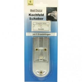 Kochfeld Schaber 10x4cm mit 5 Ersatzklinge