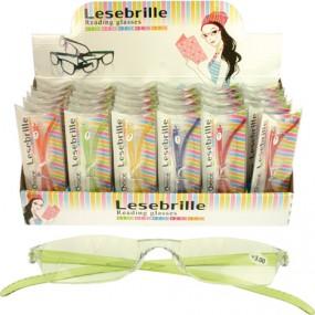Brille Lesebrille Damen farbige Bügel sortiert