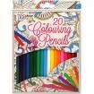Buntstifte 20er Pack angespitzt 18 cm Farben sort