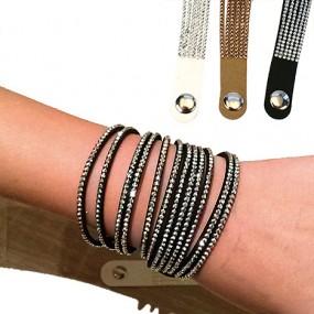 Armband Modeschmuck 40x1,6cm mit Strasssteinen