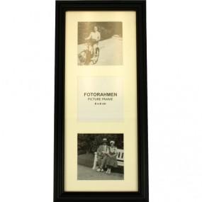 Fotorahmen 3-Bilder 30x12x8cm für Format 8x8cm