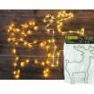 LED Elch 23x30cm mit Lichterkette 40 LED
