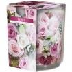 Duftkerze Motivglas Rosen 100g  Wachs 7x8cm