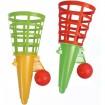 Fangballspiel 18,5cm + Ball 2 Farben