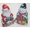 Metalldose Santa und Schneemann 15x9cm