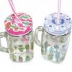 Trink-Henkelbecher Glas 450ml, 13,5x10,5 x7,5cm