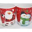 Kaffeebecher 'Santa u. Schneemann' bauchig 300ml