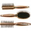 Haarbürste metallic Bronze 18,5cm 3fach sortiert