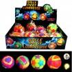 Leuchtball Neon 7,5cm mit Licht, 4 Designs sort.
