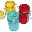 Vorratsglas XL 12x6,5x6,5 aus farbigem Glas