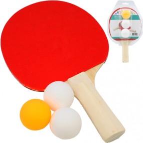 Tischtennisschläger Standard & 3 Bälle