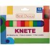 Knete bunt für Kinder 180g 12 Farben sortiert