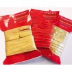 Geschenkband rot/gold 3mx16mm auf Karte