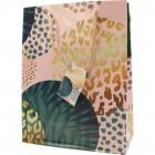 Geschenktasche 18x8x23cm Goldblüte