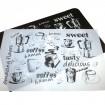 Tischset schwarz & weiss Coffeemotive 44x28cm