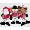 Santa, Schneemann und Elch aus Plüsch 7x8x5cm