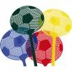 Fliegenklatsche Fussball gelb, rot, blau, schwarz
