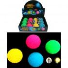 Gummiball mit Licht 6,5cm, 4 Farben sortiert