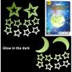 Leuchtsterne und Monde 10 Stück Glow in the Dark