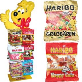 Food Haribo 100g Mix 6f. sort.m.gratis Aufsteller