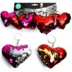 Schlüsselanhänger Herz 10cm mit Pailletten
